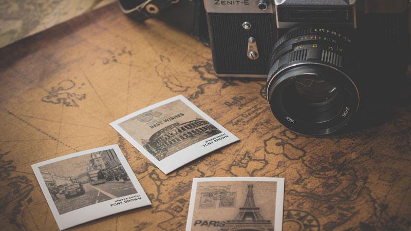 macchina fotografica da viaggio